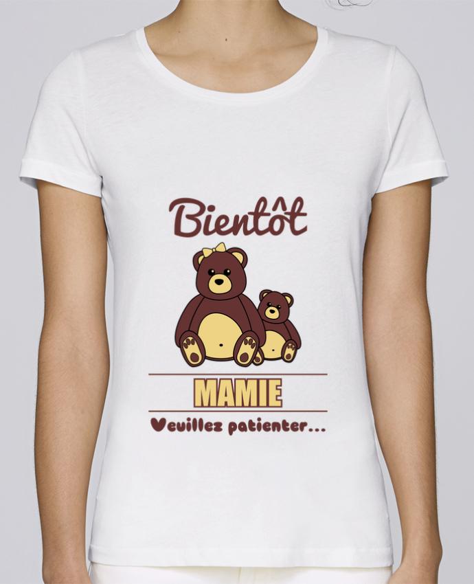 T-shirt Femme Stella Loves Bientôt Mamie, future grand-mère, ourson, famille, grossesse par Benichan