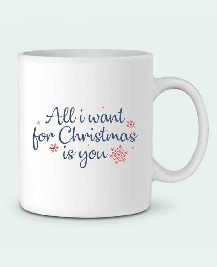 Mug en Céramique All i want for christmas is you par Nana