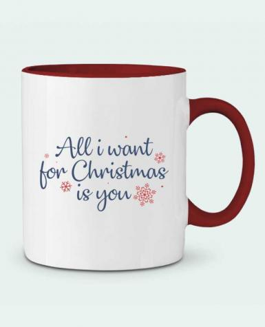 Mug en Céramique Bicolore All i want for christmas is you Nana