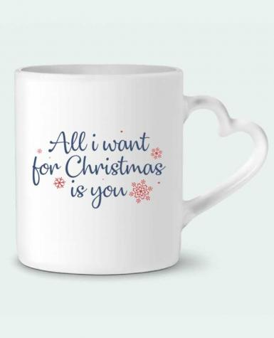 Mug Coeur All i want for christmas is you par Nana