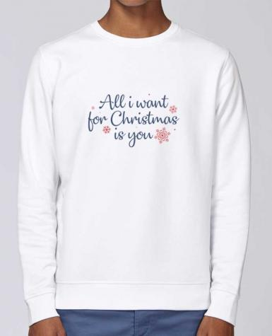 Sweat Col rond Femme Stanley Stella Rise All i want for christmas is you par Nana