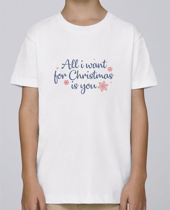 Tee Shirt Garçon Stanley Mini Paint All i want for christmas is you par Nana