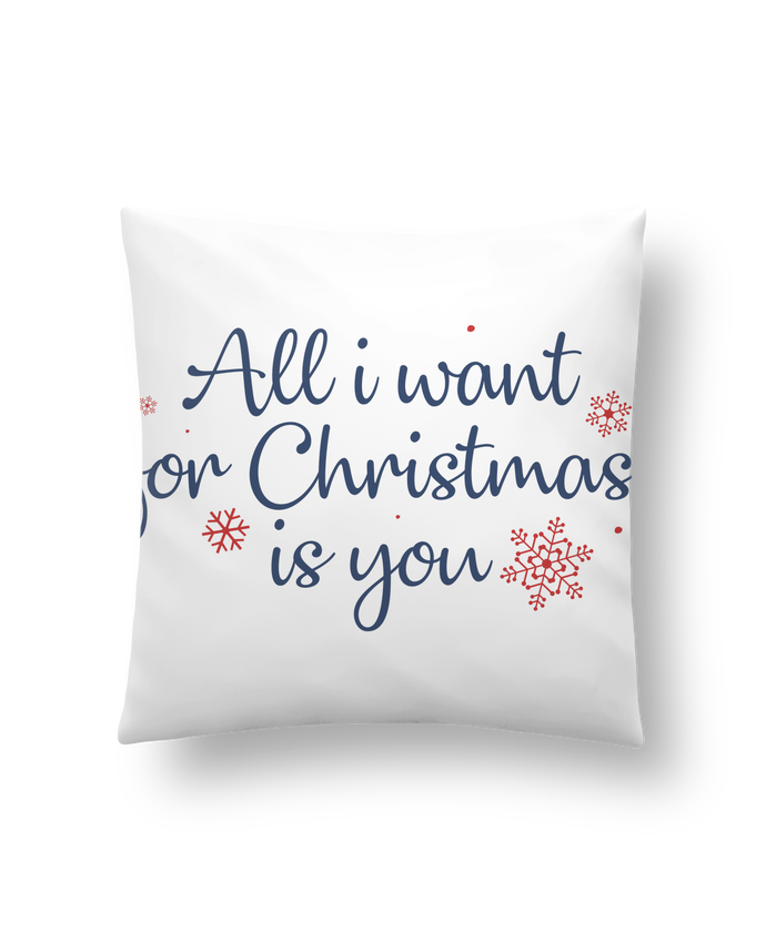 Coussin Synthétique Doux 41 x 41 cm All i want for christmas is you par Nana