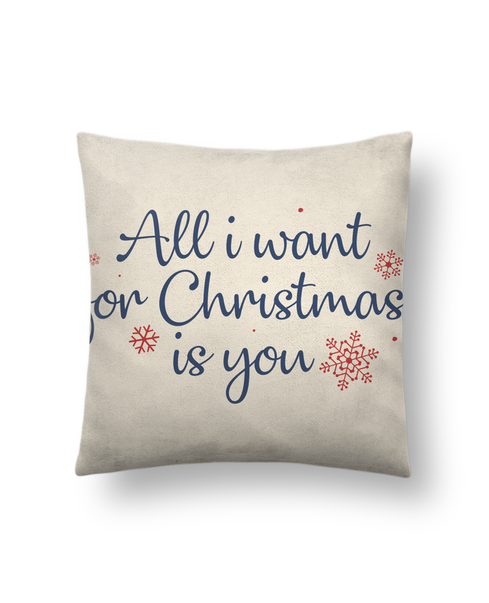 Coussin Toucher Peau de Pêche 41 x 41 cm All i want for christmas is you par Nana