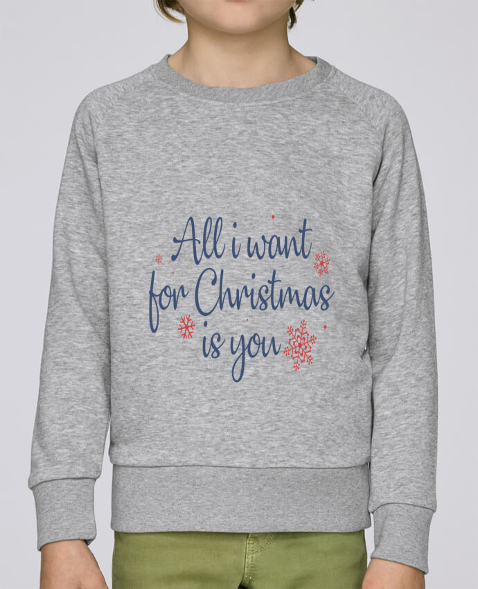 Sweat Col Rond Enfant Stanley Mini Scouts All i want for christmas is you par Nana