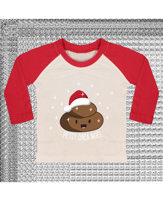 T-shirt Bébé Baseball Manches Longues Petit caca noël par tunetoo