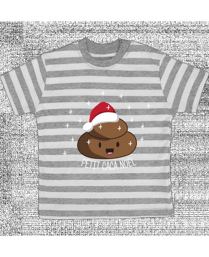 T-shirt Bébé à Rayures Petit caca noël par tunetoo