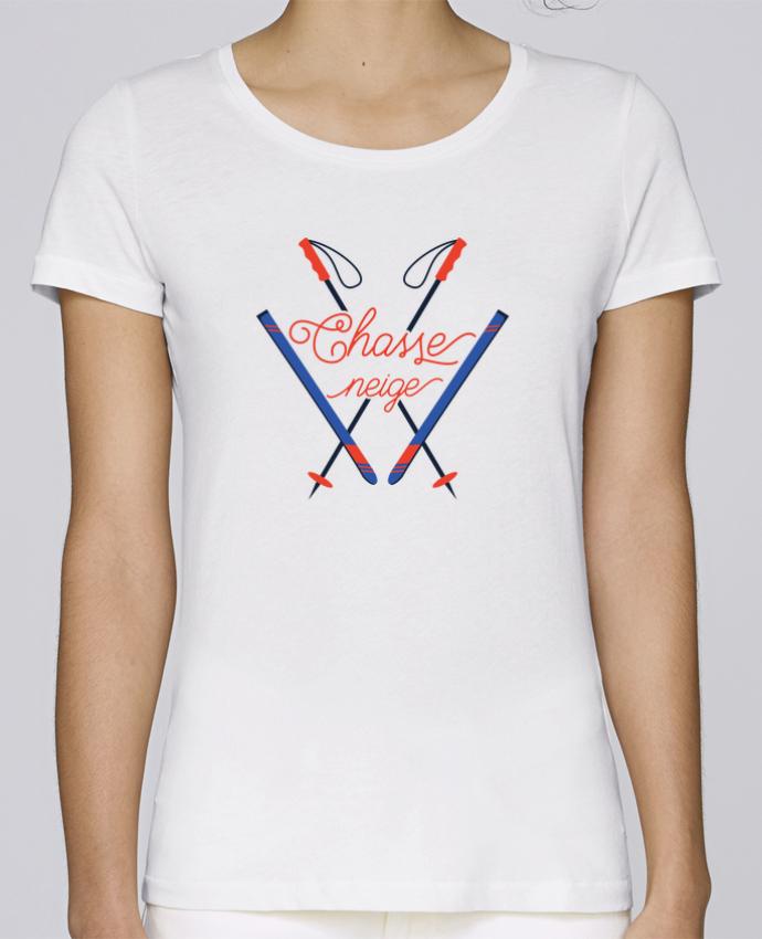 T-shirt Femme Stella Loves Chasse neige - design ski par tunetoo