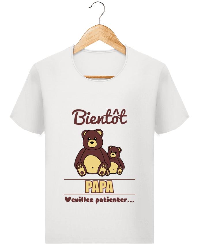 c5399fc961d36 T-shirt Homme Stanley Imagines Vintage Bientôt Papa, futur père, ourson,  ours