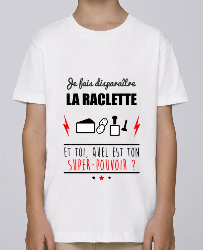 Tee Shirt Garçon Stanley Mini Paint Je fais disparaître la raclette et toi, quel est ton super-pouvoir ? par Benichan