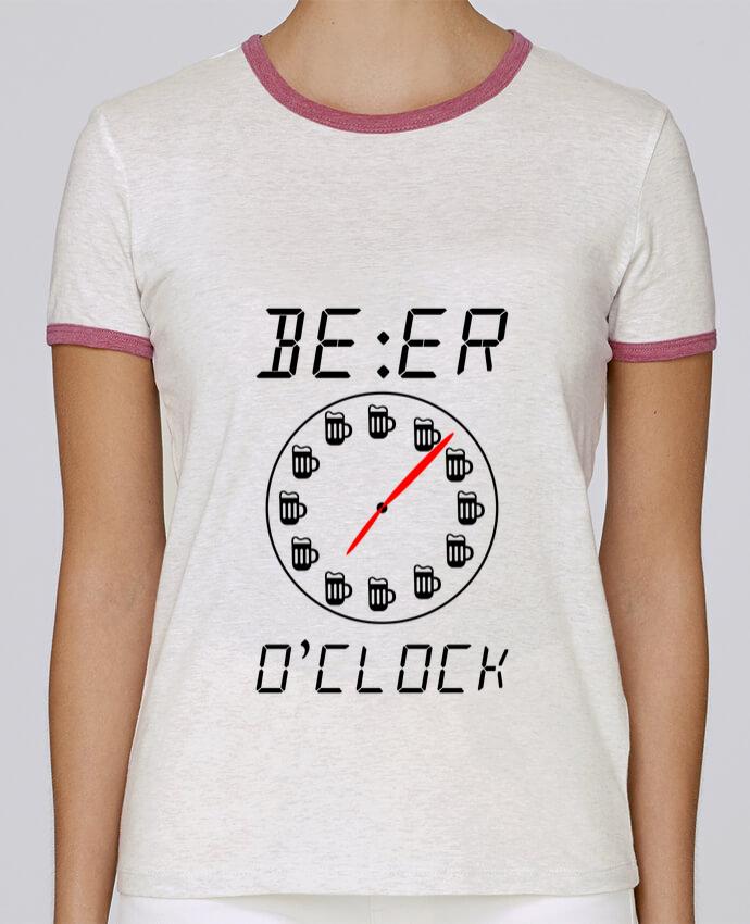 6d90455dc9d38 T-shirt Femme Stella Returns Beer o'clock, horloge bière pour femme par  Benichan