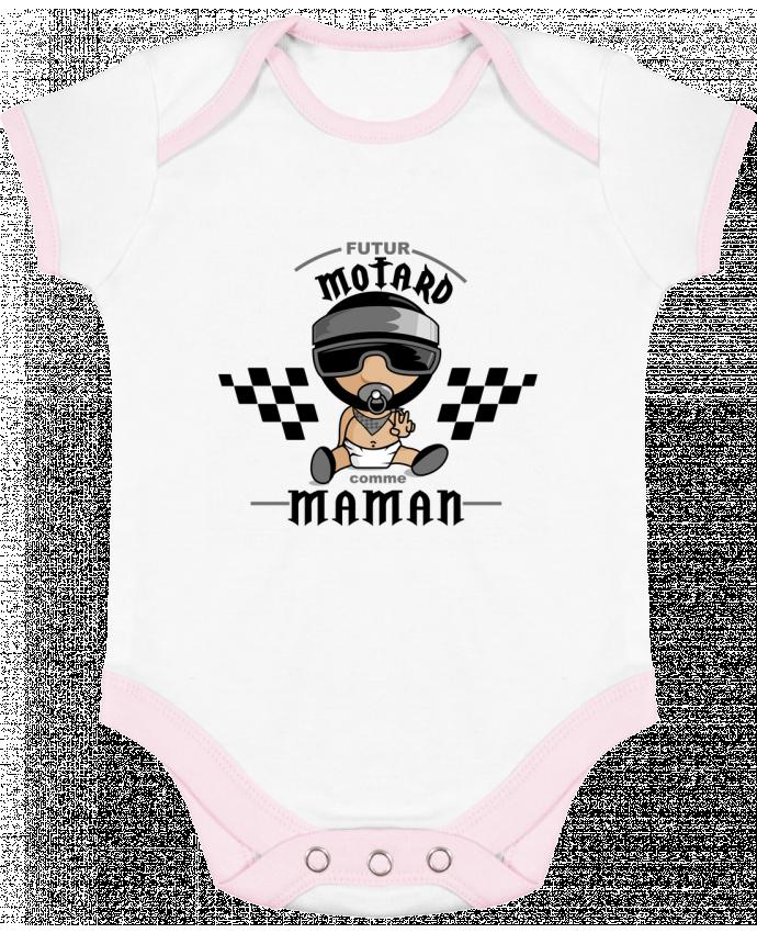 Body Bébé Contrasté Futur Motard comme maman par GraphiCK-Kids
