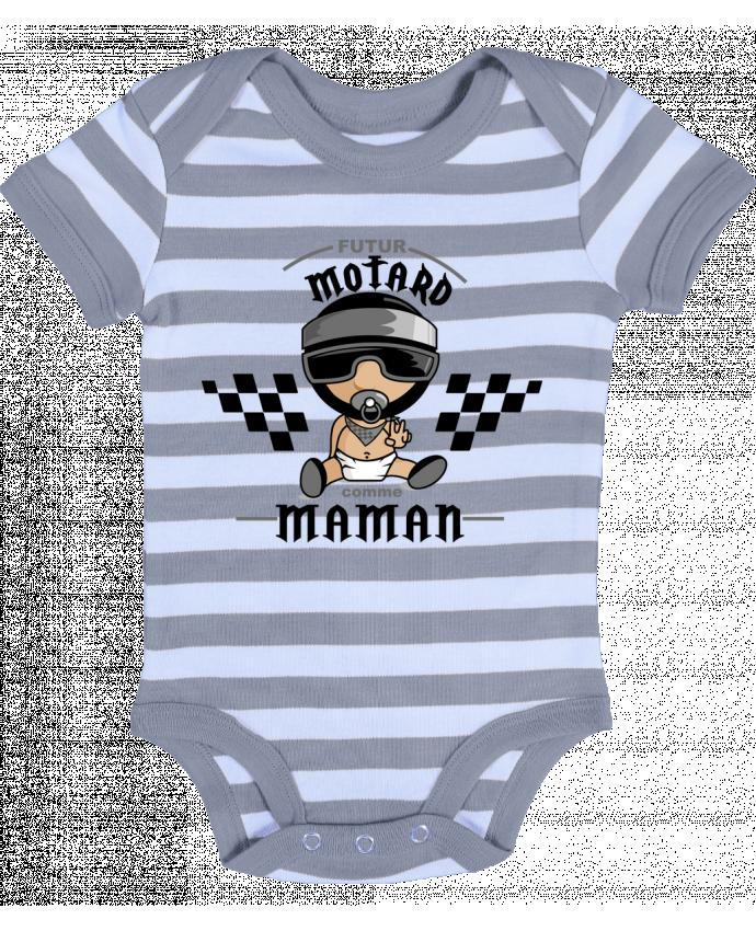 Body Bébé à Rayures Futur Motard comme maman - GraphiCK-Kids