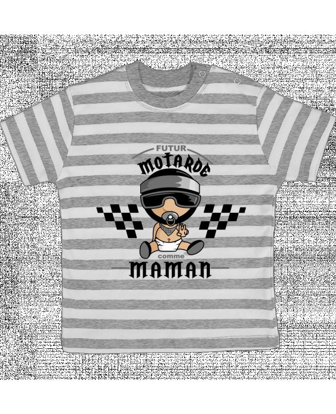 T-shirt Bébé à Rayures Futur motarde comma maman par GraphiCK-Kids
