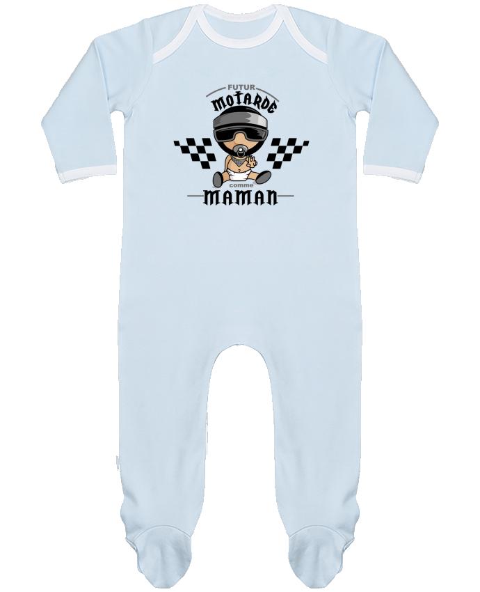 Pyjama Bébé Manches Longues Contrasté Futur motarde comma maman par GraphiCK-Kids