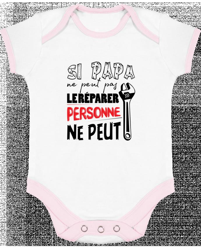 Body Bébé Contrasté Si papa ne peut pas le réparer... par tunetoo