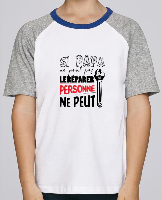 Tee-Shirt Enfant Stanley Mini Jump Short Sleeve Si papa ne peut pas le réparer... par tunetoo