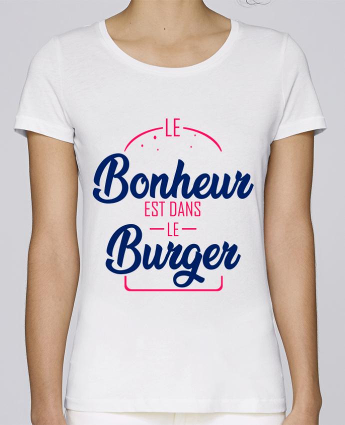 T-shirt Femme Stella Loves le bonheur est dans le burger par Milie