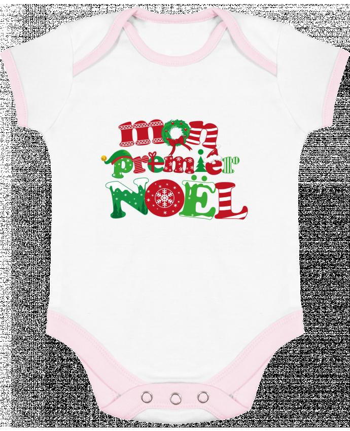 Body Bébé Contrasté Mon  premier Noël par GraphiCK-Kids