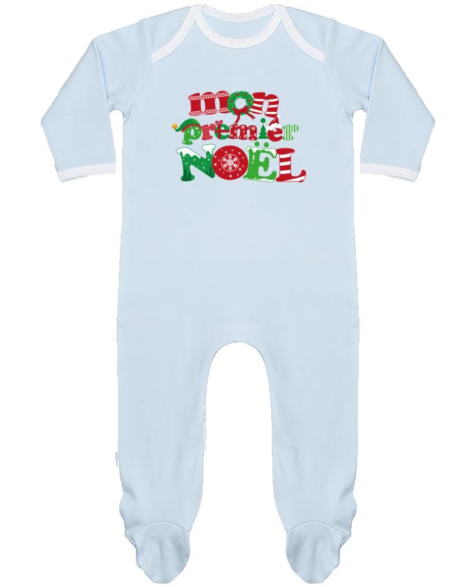 Pyjama Bébé Manches Longues Contrasté Mon  premier Noël par GraphiCK-Kids