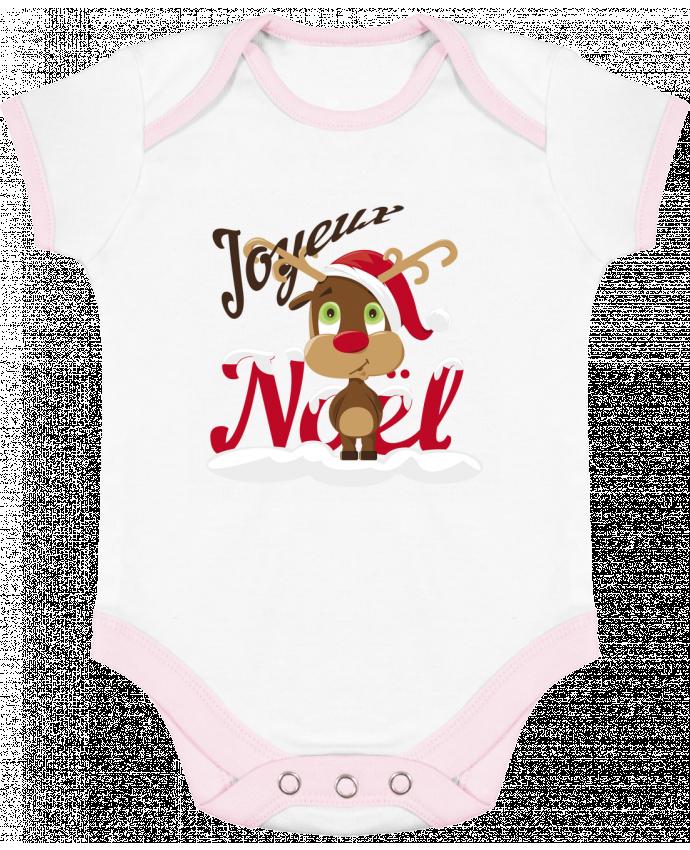 Body Bébé Contrasté Renne Joyeux Noël Enfant par GraphiCK-Kids