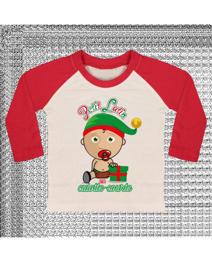 Tee-shirt Bébé Baseball ML Petit Lutin de Noël par GraphiCK-Kids