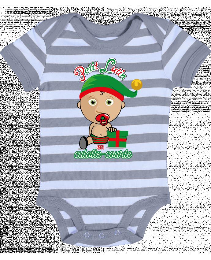 Body Bébé à Rayures Petit Lutin de Noël - GraphiCK-Kids