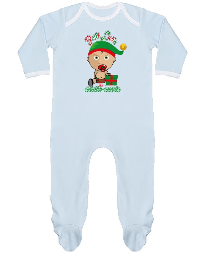 Pyjama Bébé Manches Longues Contrasté Petit Lutin de Noël par GraphiCK-Kids