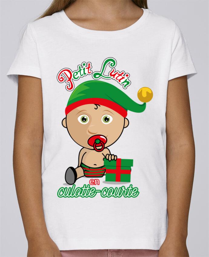 T-shirt Fille Mini Stella Draws Petit Lutin de Noël par GraphiCK-Kids