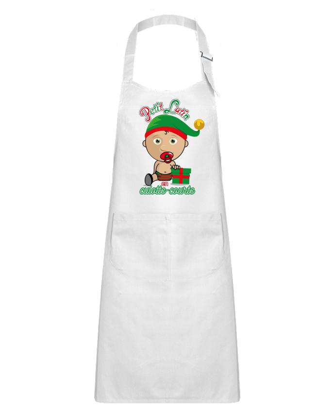 Tablier Enfant avec Poche Petit Lutin de Noël par GraphiCK-Kids