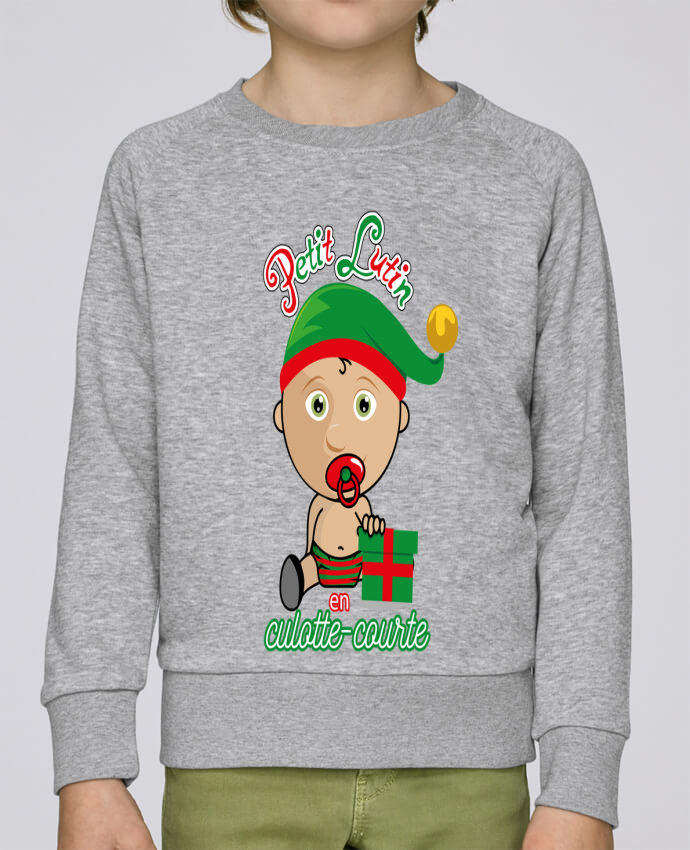 Sweat Col Rond Enfant Stanley Mini Scouts Petit Lutin de Noël par GraphiCK-Kids