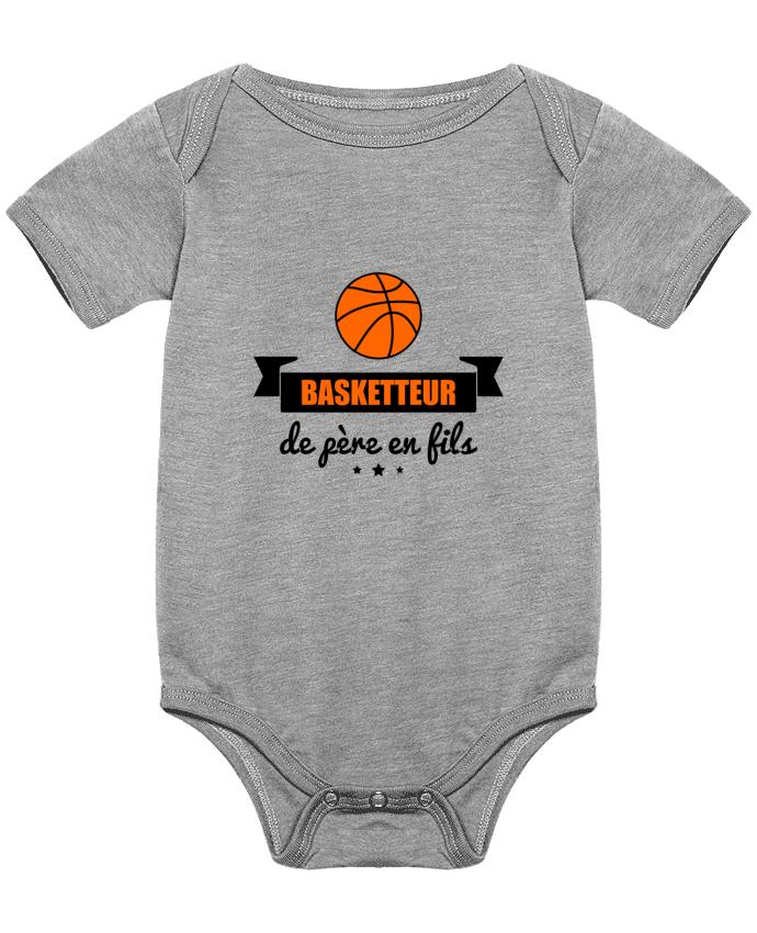 Body Bébé Basketteur de père en fils, cadeau basket par Benichan