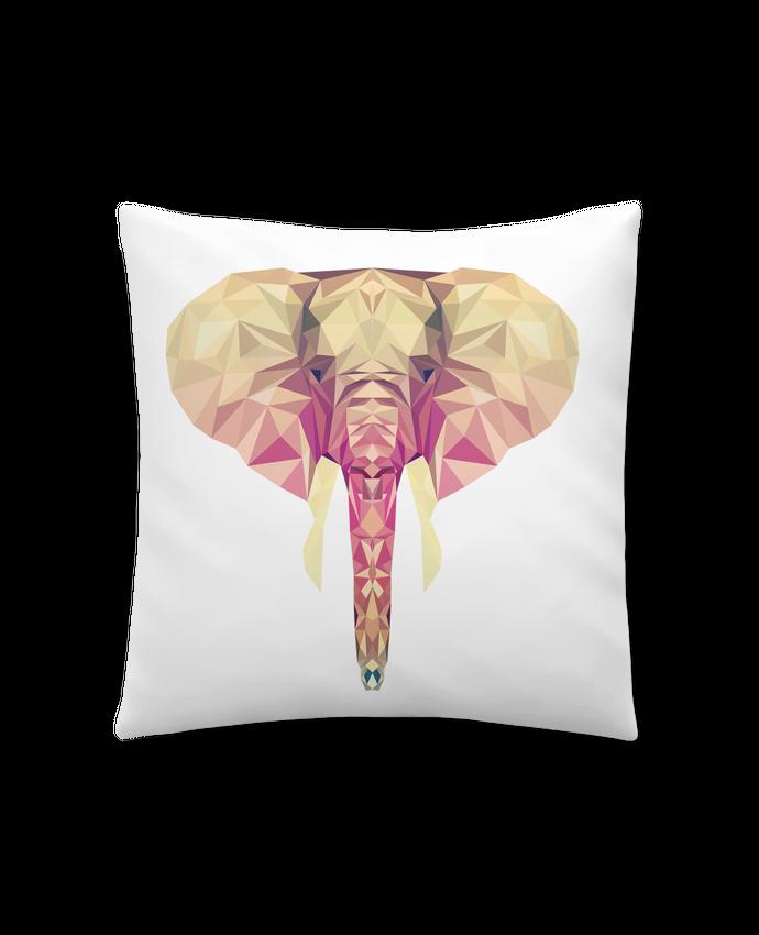 Coussin Synthétique Doux 41 x 41 cm Elefante poligonal par color indigo