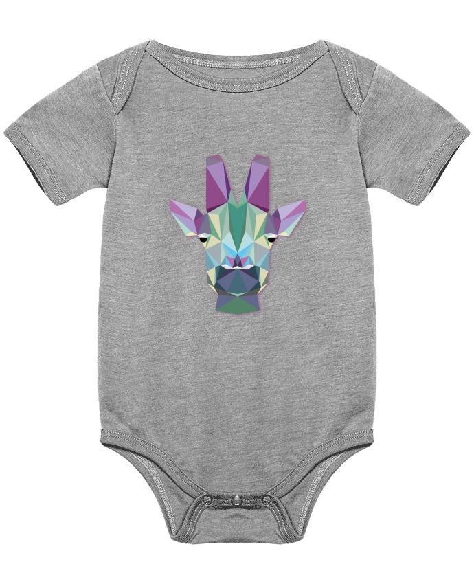 Body Bébé Jirafa Poligonal par color indigo