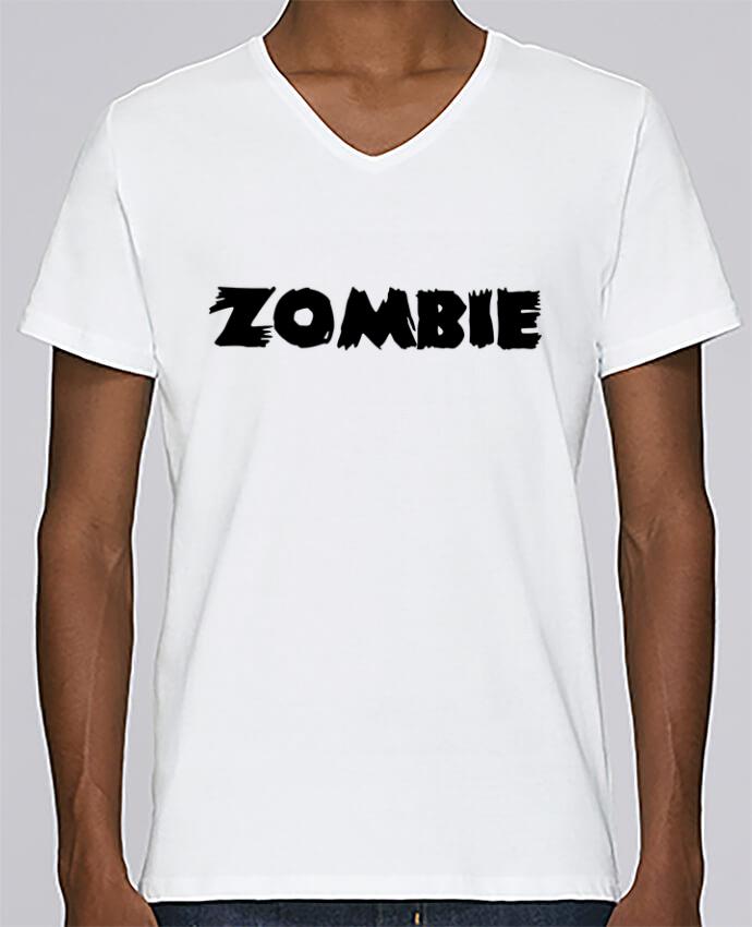 T-shirt Col V Homme Stanley Relaxes Zombie par L'Homme Sandwich