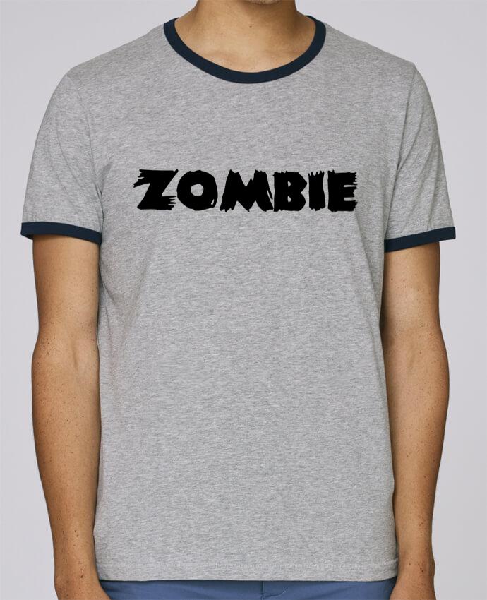 T-Shirt Ringer Contrasté Homme Stanley Holds Zombie pour femme par L'Homme Sandwich