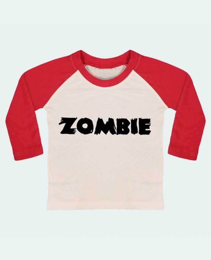 T-shirt Bébé Baseball Manches Longues Zombie par L'Homme Sandwich