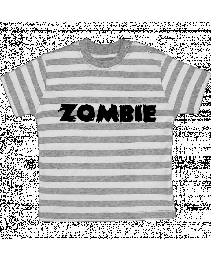T-shirt Bébé à Rayures Zombie par L'Homme Sandwich