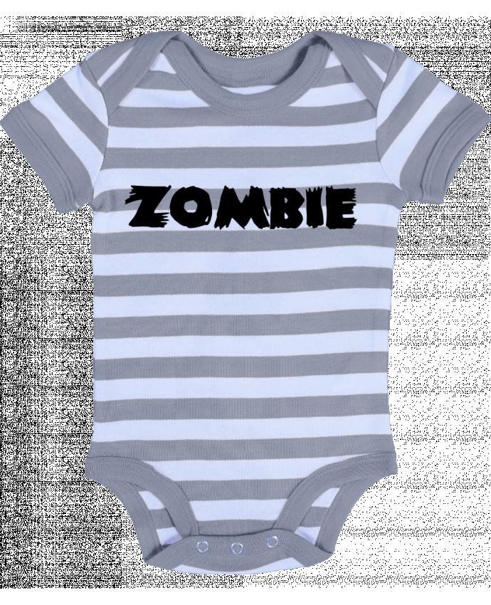 Body Bébé à Rayures Zombie - L'Homme Sandwich