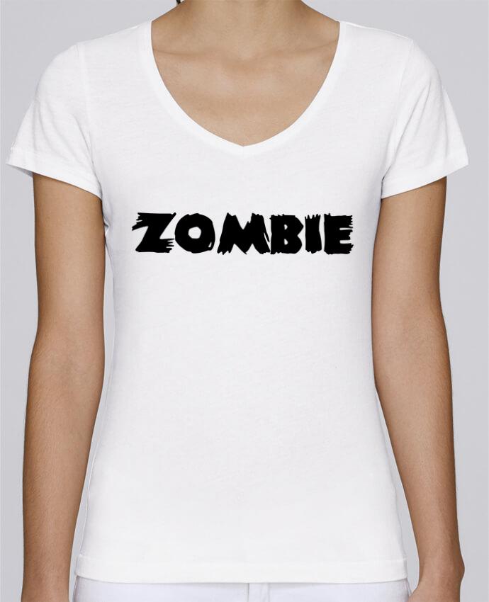 T-shirt Femme Col V Stella Chooses Zombie par L'Homme Sandwich