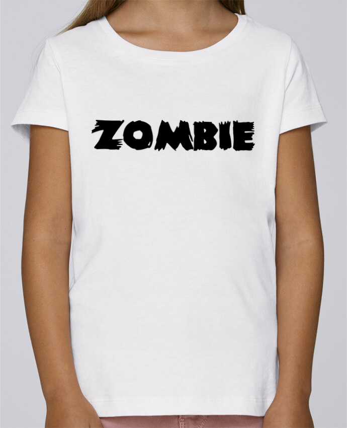 T-shirt Fille Mini Stella Draws Zombie par L