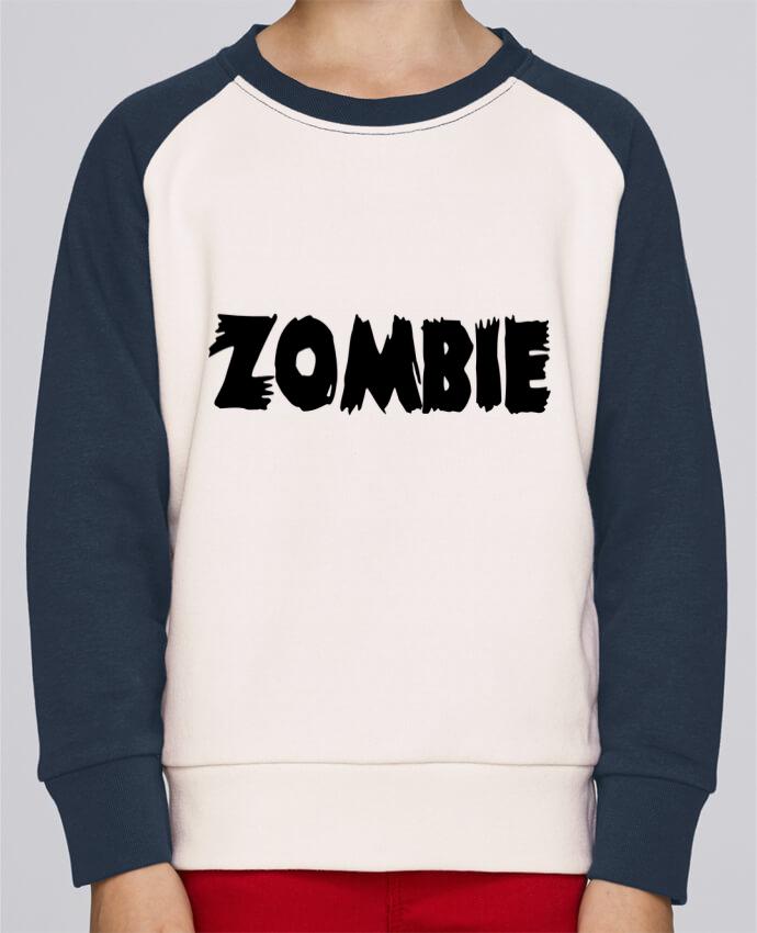 Sweat Shirt Col Rond Enfant Stanley Mini Contrast Zombie par L'Homme Sandwich