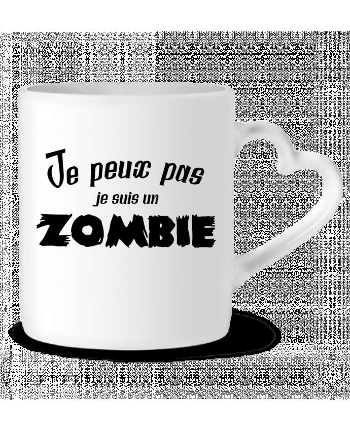 Mug Coeur Je peux pas je suis un Zombie par L'Homme Sandwich