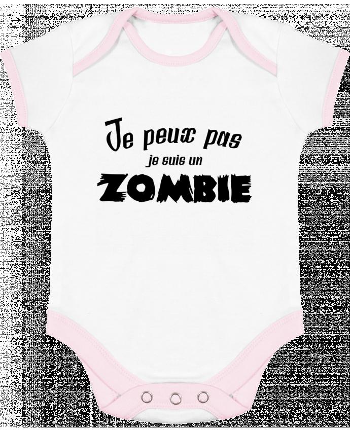Body Bébé Contrasté Je peux pas je suis un Zombie par L'Homme Sandwich