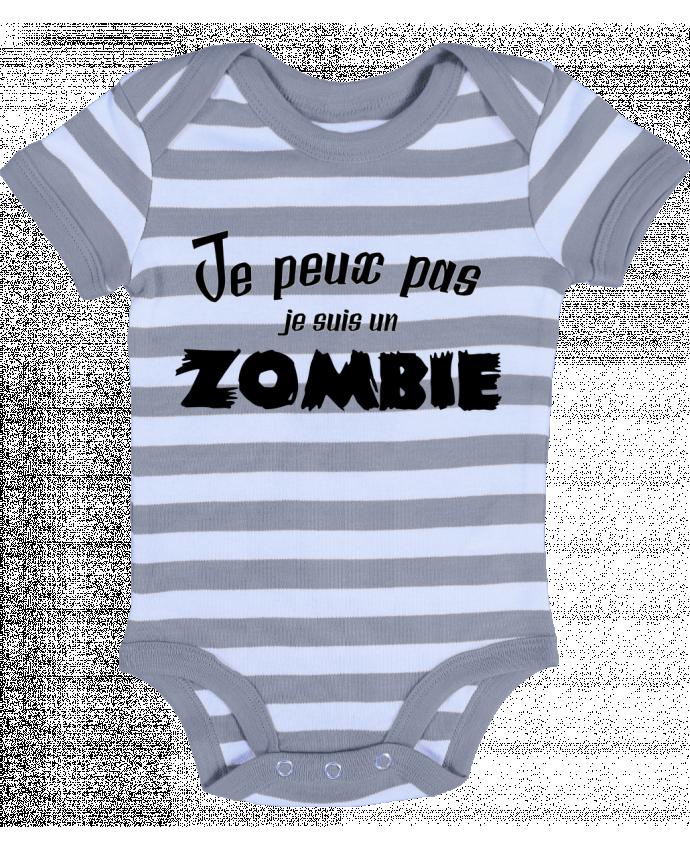 Body Bébé à Rayures Je peux pas je suis un Zombie - L'Homme Sandwich