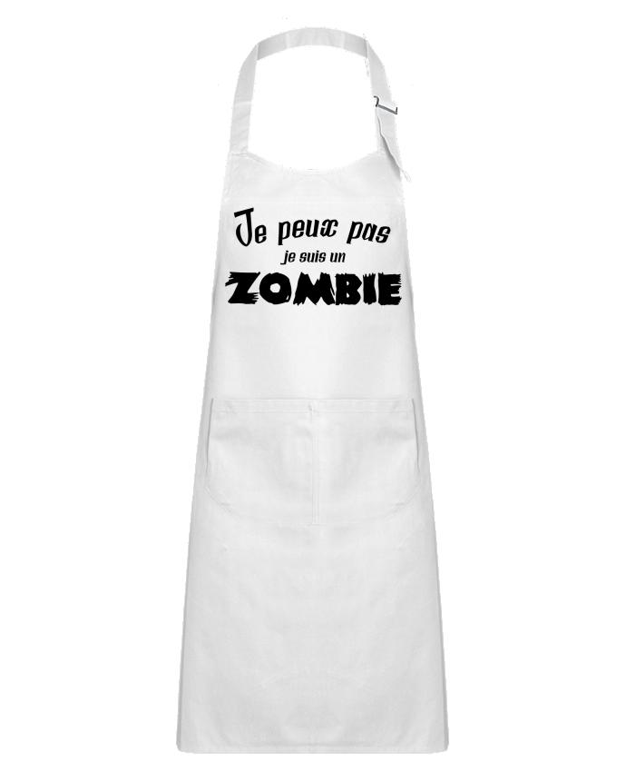 Tablier Enfant avec Poche Je peux pas je suis un Zombie par L'Homme Sandwich