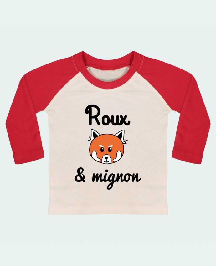 Tee-shirt Bébé Baseball ML Roux & Mignon, Panda roux par Benichan