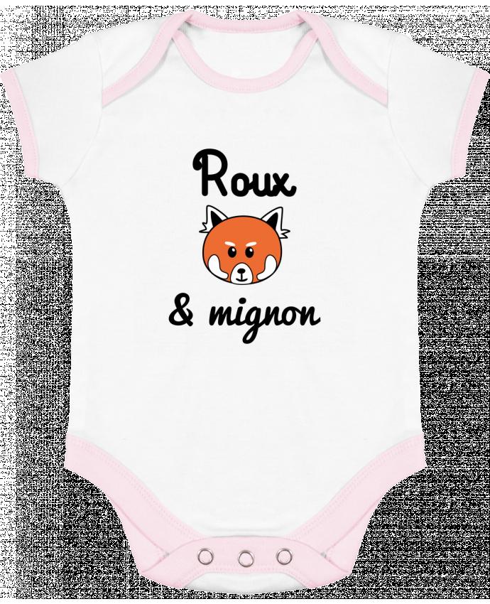 Body Bébé Contrasté Roux & Mignon, Panda roux par Benichan