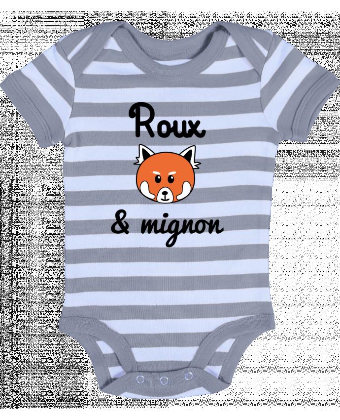 Body Bébé à Rayures Roux & Mignon, Panda roux - Benichan