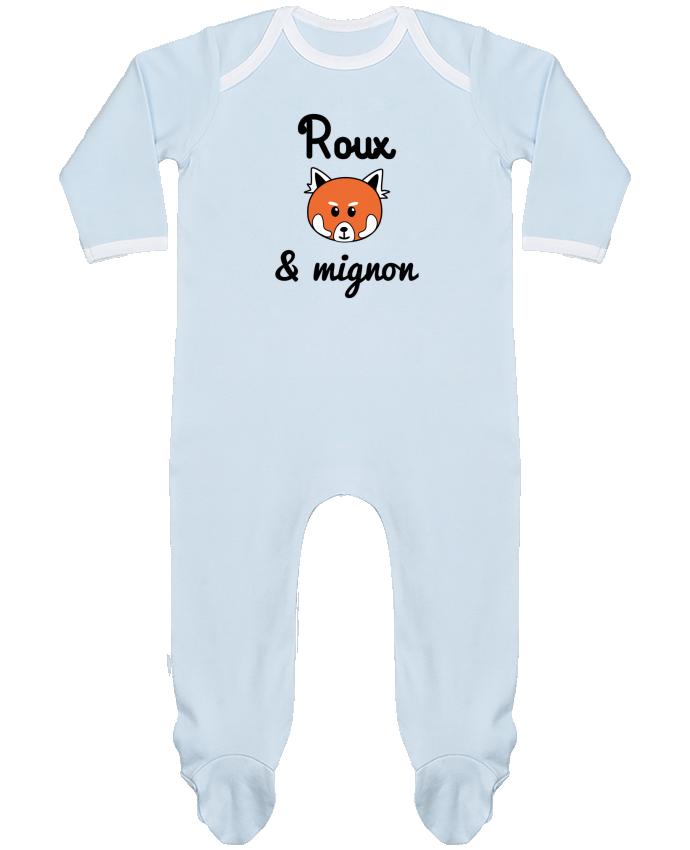 Pyjama Bébé Manches Longues Contrasté Roux & Mignon, Panda roux par Benichan